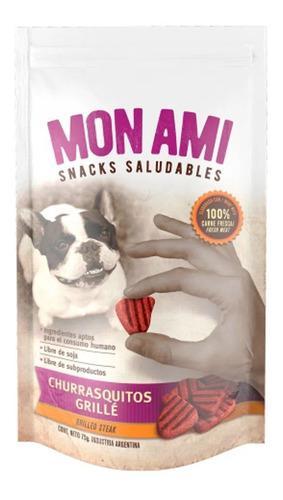 Golosina Snack Perros Mon Ami Churrasquito X 3 Unidades 75gr