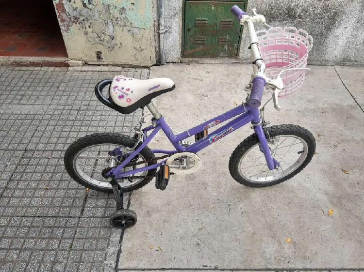 Bicicleta Rodado 16 de niña