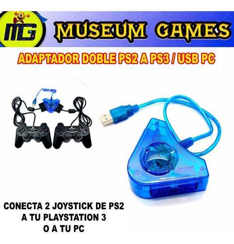 Converso Adaptador Joystick Ps2 Playstation 2 A Pc Usb Doble