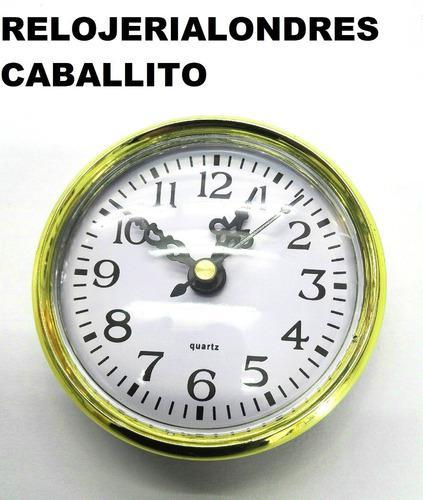 Maquinas Relojes Insertos 6,5cm X 2 Ideal Artesania Souveni