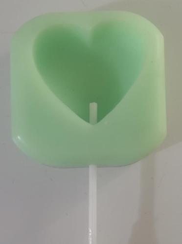 Molde Silicona Corazón Chupetin X1 P/artesanías O