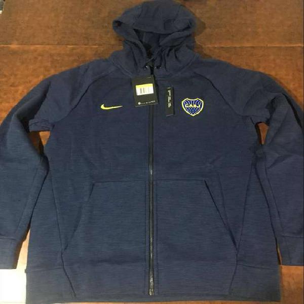 Oferta campera nike Boca Juniors hoodie optic de algodon