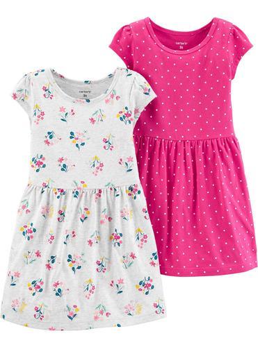Carters Pack 2 Vestidos Bebé Nenas