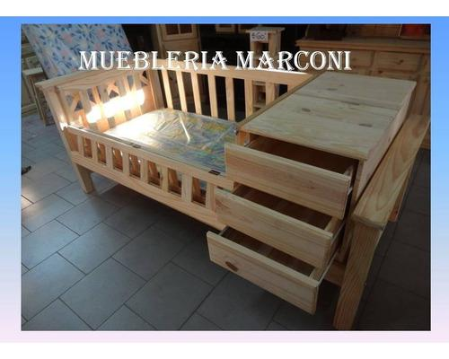 Cuna Funcional Revatible De Pino Muebleria Marconi Ituzaingo