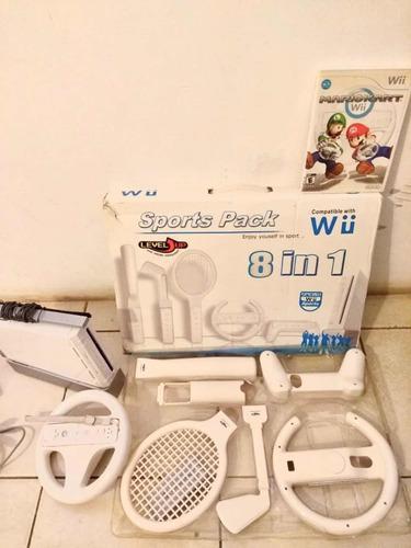 Nintendo Wii - 1 Mando + 2 Juegos De Regalo Y Equipo Sport