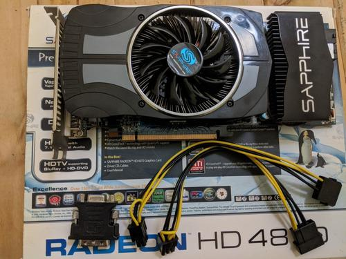 Placa Video Gddr5 Sapphire Ati Radeon Hd 4870 1gb Vapor-x