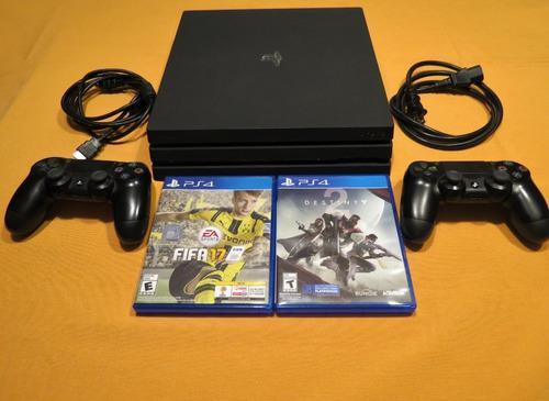 Playstation Ps4 Pro 1tb - 2 Juegos - 2 Controles