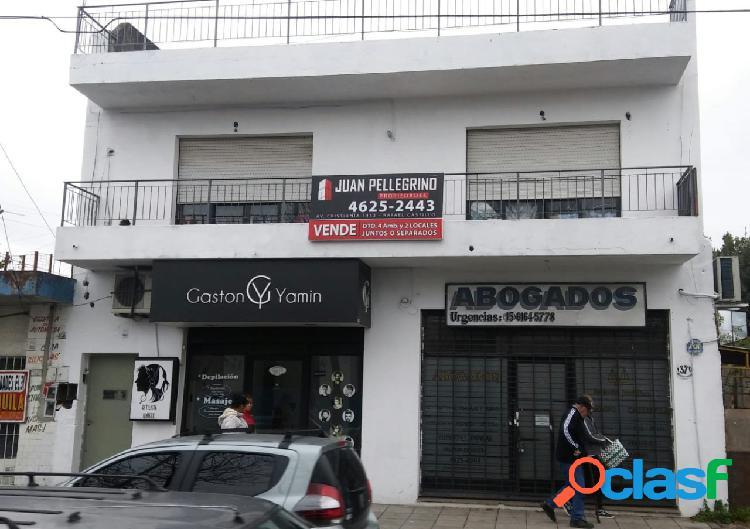 Villa Luzuriaga, 2 locales y depto 4 amb, Juan Pellegrino