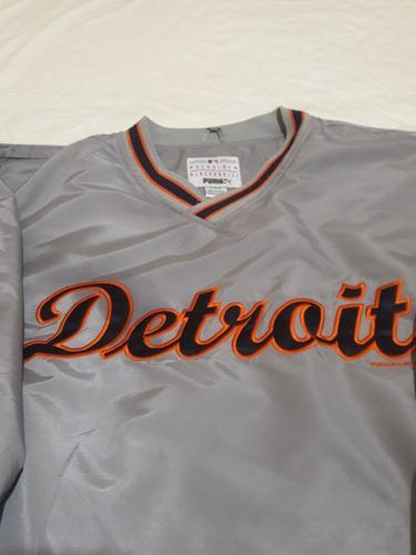 Buzo Mlb Baseball Detroit Rompeviento - Original Talle L