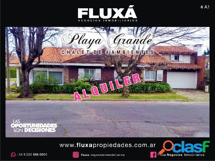 ALQUILER Casa de 5 Ambientes - Playa Grande