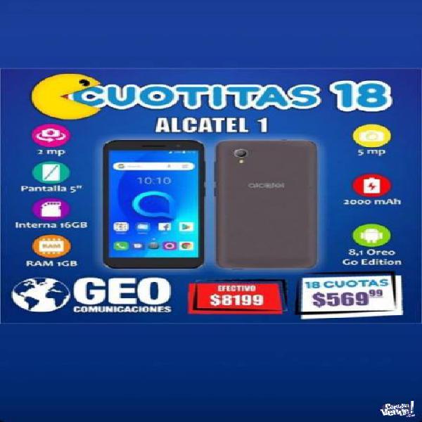 Alcatel 1 en 18 cuotas