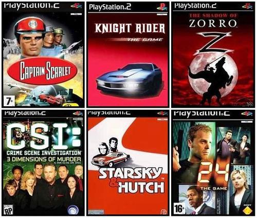 Lote De Juegos De Ps2 (playstation2) Basados En Series De Tv