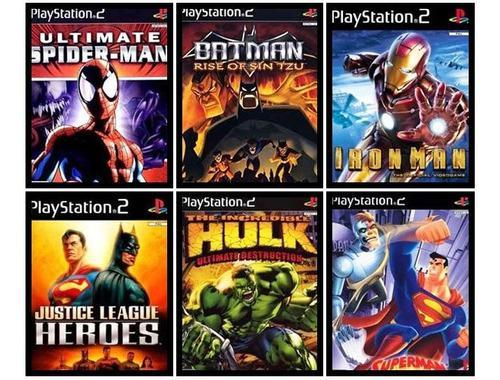 Lote De Juegos De Superhéroes Para Ps2 (playstation 2)