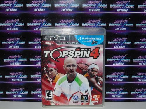 Top Spin 4 Play Station 3 Ps3 Juego