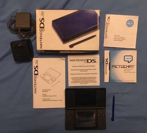Consola Nintendo Ds Lite En Caja Manuales Y 10 Juegos