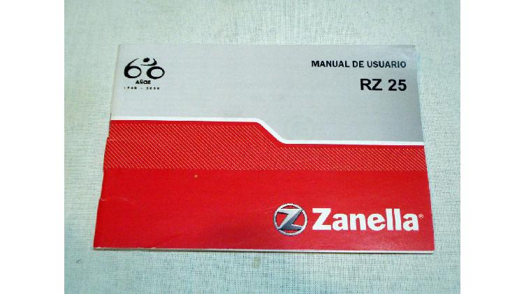 manual de usuario Zanella RZ25