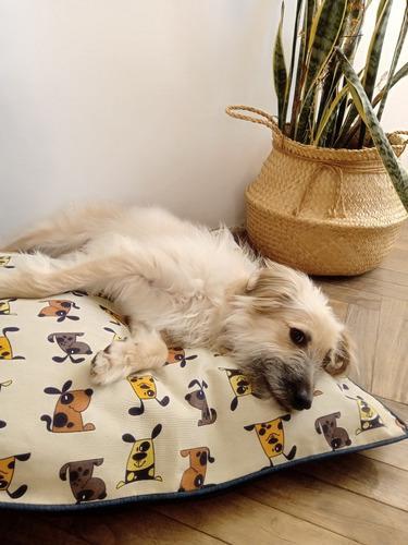 Almohadones Para Perros Y Gatos 60x70 Funda Extraiblelavable