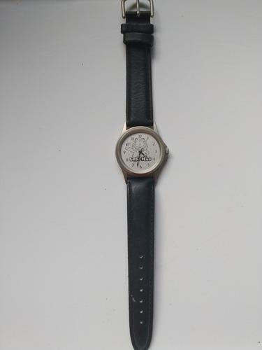 Reloj De Pulsera Antiguo Vintage Garfield De Cuero Importado