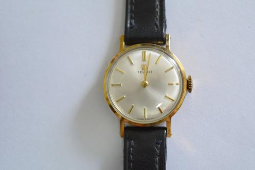 Reloj Pulsera Mujer Tissot Oro Plaque Vintage Antiguo Nos
