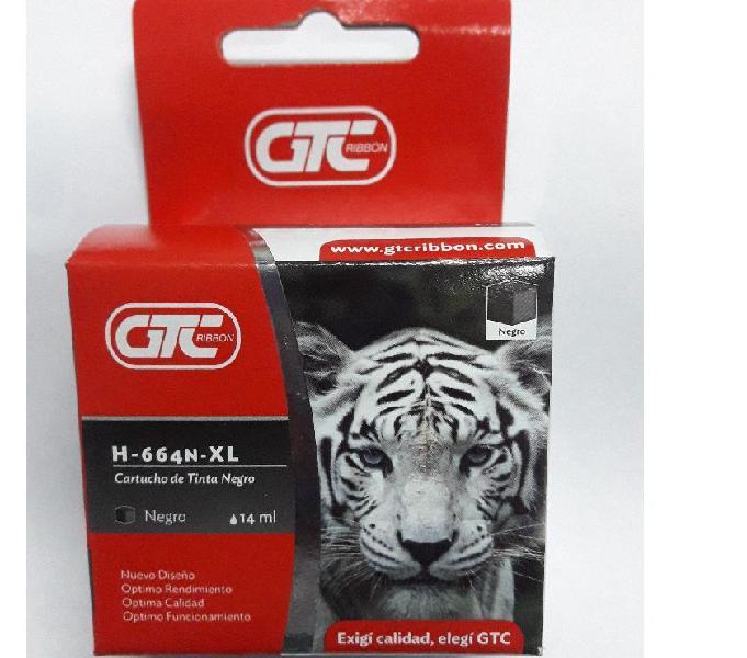 Cartucho Alternativo Gtc 664 Xl Negro 14ml