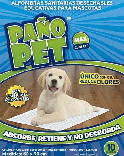 Alfombra Sanitaria Paño Pet Max 60x90 X 10 Unidades