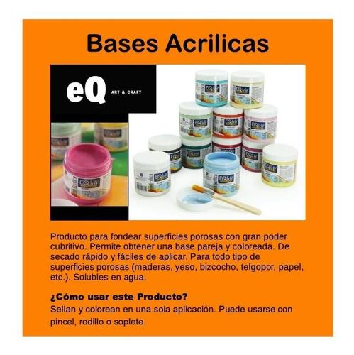 Base Acrilica Eq Arte X 200cc Pack X 10 Unidades - Flores