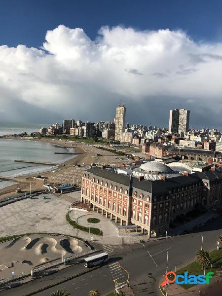Monoambiente amoblado con vista al mar y a Plaza Colón con