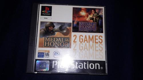 Juego Original Medal Of Honor 1 Y 2 Playstation 1