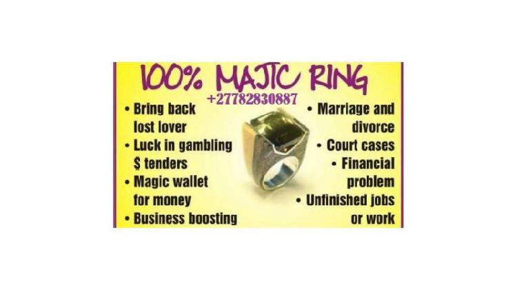 Magic Ring For Money Love Attraction Fame & Protection Call