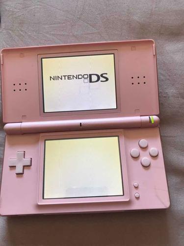 Nintendo Ds Lite Rosa Con Funda, Juegos Y Cargador