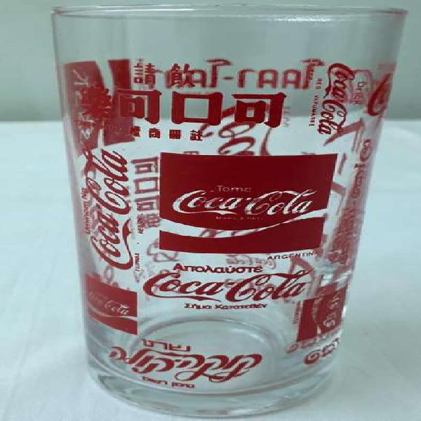 Vaso Vidrio Coca Cola para colección.
