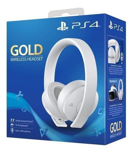 Auricular Sony Gold Ps4 Ps3 7.1 Caja Sellada Headset Blanco