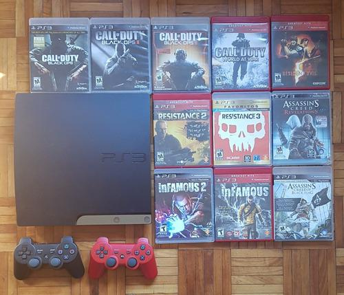 Playstation 3 + 2 Joysticks + 22 Juegos Originales