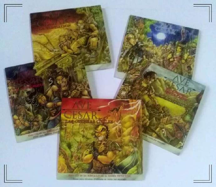 Lote de 5 CDs compilados del programa Ave Cesar que venían
