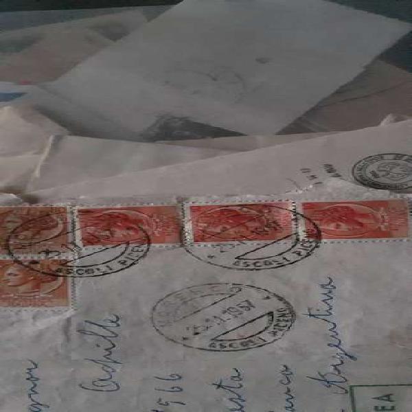 vendo antiguo sobre con estampillas antigua de Italia año