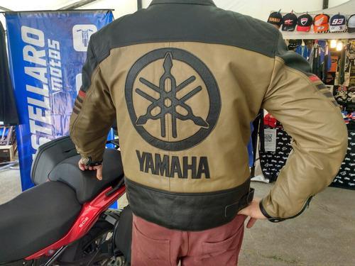 Campera Cuero Yamaha Xl