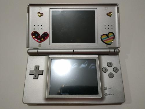 Nintendo Ds Lite Gris Flasheada + Juegos + Cargador + Funda