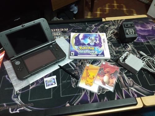 Nintendo New Xl + Pokémon Moon + Tarjetas Nfc Con Amiibo