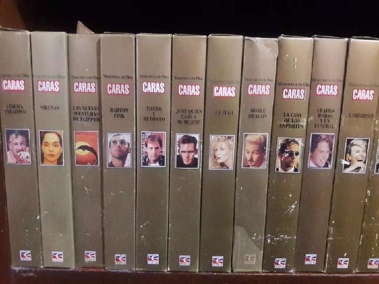"""VHS COLECCION DE ORO REVISTA """""""" CARAS """""""""""