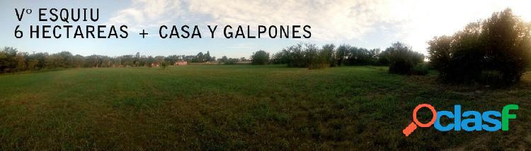 venta casa quinta y galpones + H°s VILLA ESQUIU