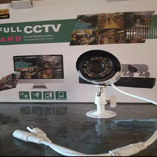 Kit de seguridad cctv 4 cámaras HD + disco rígido de