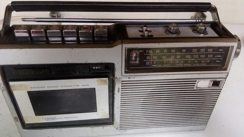 Radiograbador Portatil Cassette Am/fm National 220v O Pilas