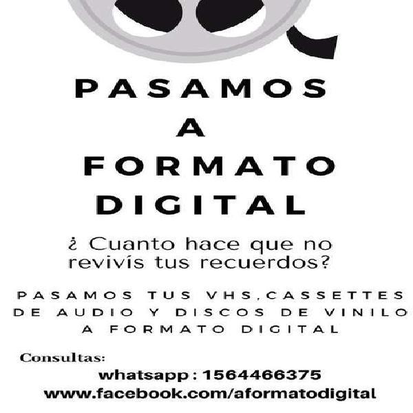 Digitalizamos VHS y otros formatos
