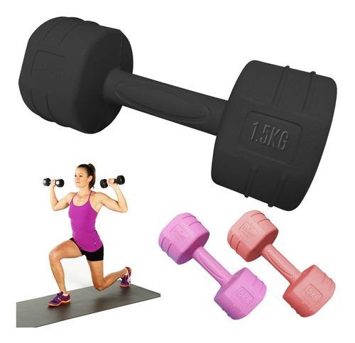 Mancuerna Pesa 1.5kg Pvc Gym Yoga $ X Kilo - El Rey
