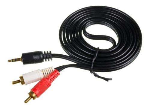 Cable Mini Plug 3.5mm Stereo A 2 Rca Mono 1.5 M X 20 Unidad