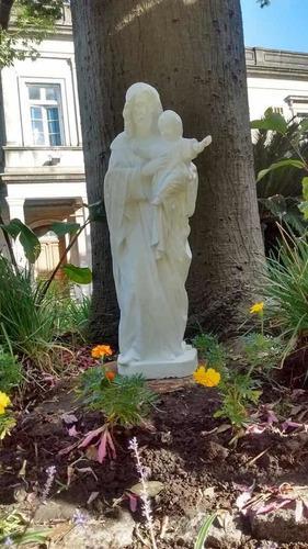 Estatua De San Jose Con El Niño Jesus, 1 Metro, Cemento