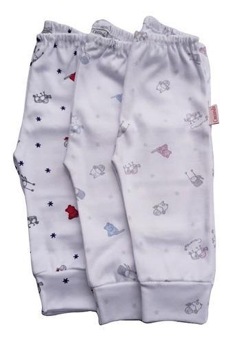 Pantalon Bebe Interlock Prima Estampado Animalito 100 % ALG
