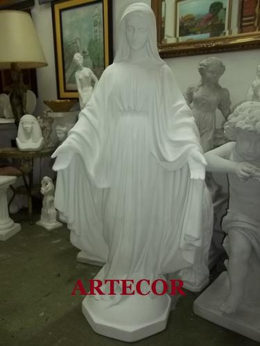 Virgen Medalla Milagrosa, En Yeso 1,30 M. De Altura, Estatua
