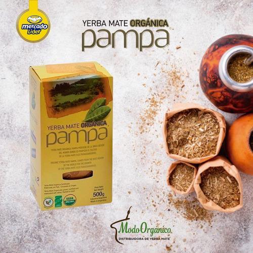 Yerba Mate Organica Pampa 10 X 500 Gs Certificada