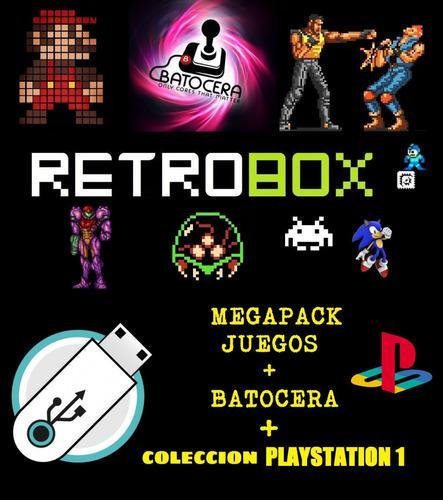 Colecciones Video Juegos + Playstation 1 + Batocera Usb+4gb
